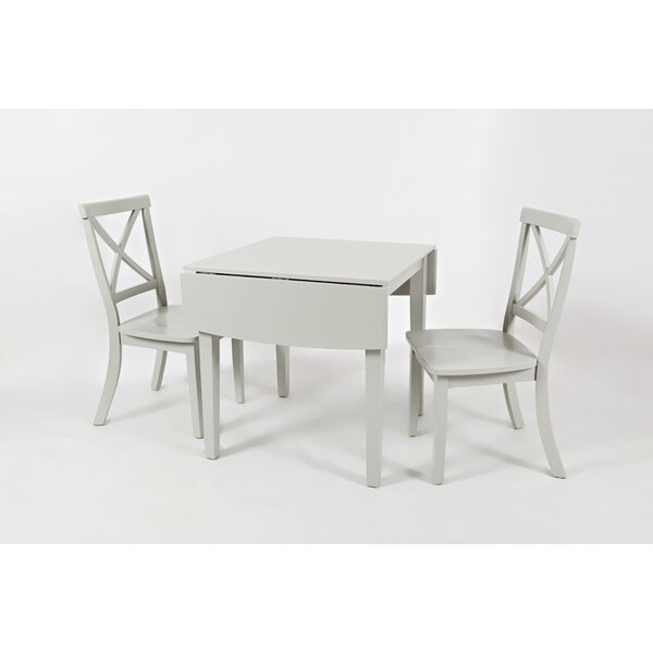 Dunster 3 Piece Solid Wood Dining Set by Alcott Hill Alcott Hill