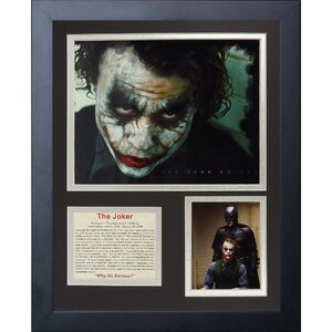 The Joker Framed Memorabilia by Legends Never Die