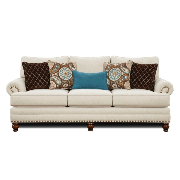 Rosborough White Linen Sofa by Red Barrel Studio