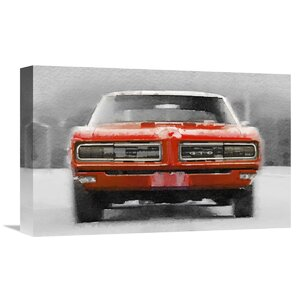 '1968 Pontiac GTO Front' Graphic Art on Wrapped Canvas by Naxart