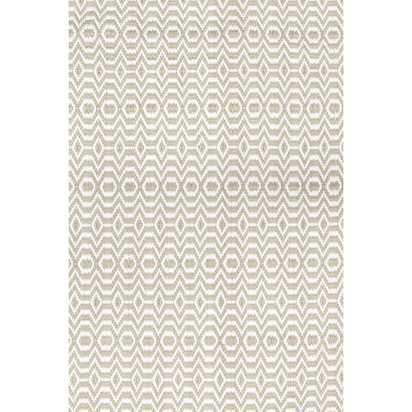 One-of-a-Kind Leonel Hand-Knotted Ivory Indoor Area Rug by Rosecliff Heights