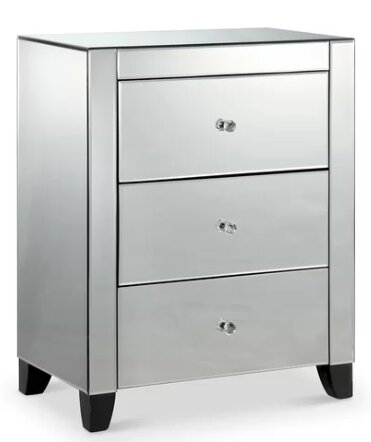 Rison 3 Drawer Nightstand by Everly Quinn
