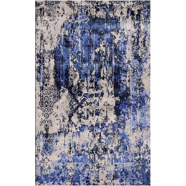 Aliza Handloom Sand/Blue Area Rug by Bungalow Rose