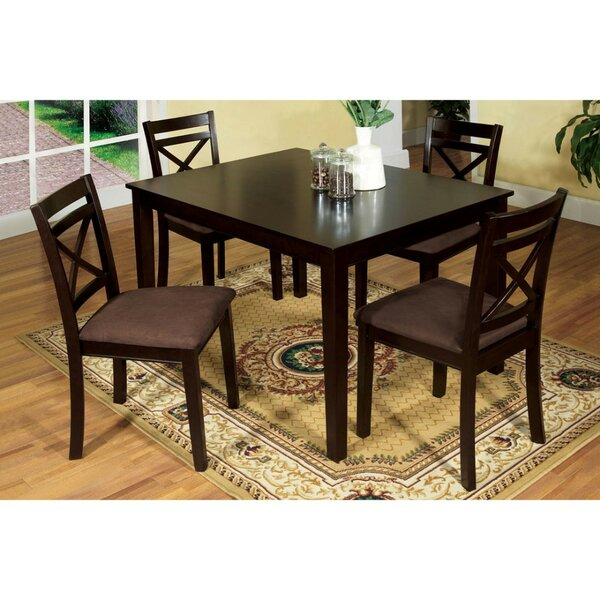 Pires 5 Piece Solid Wood Dining Set by Charlton Home Charlton Home