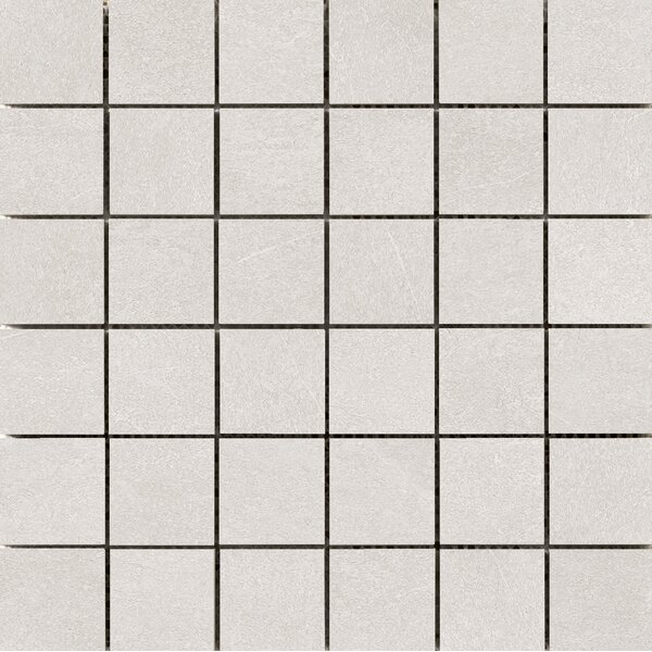Anthem 2 x 2 Ceramic Mosaic Tile in White by Emser Tile