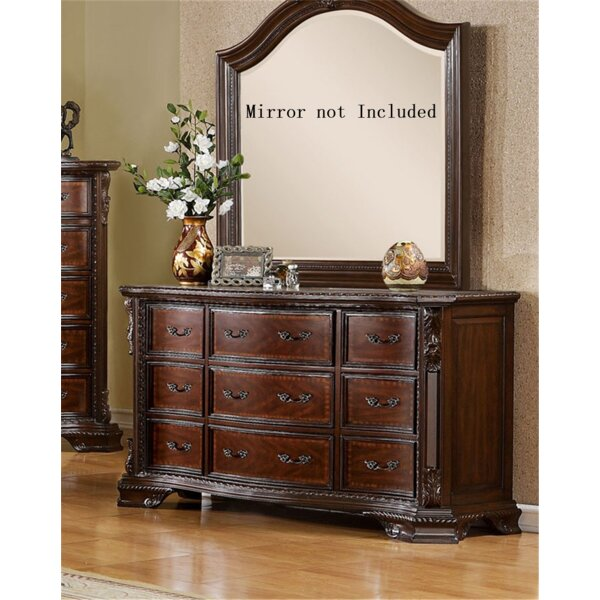 Leanne 9 Drawer Double Dresser by Canora Grey