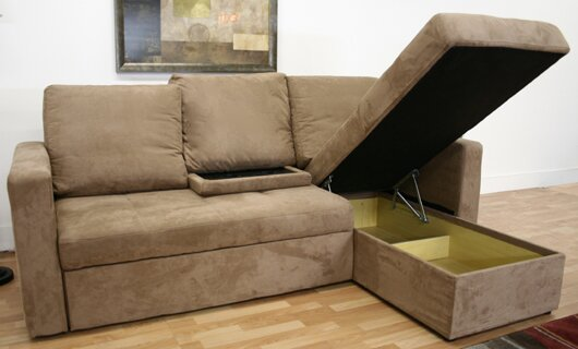 Spicer Sleeper Sectional by Ebern Designs