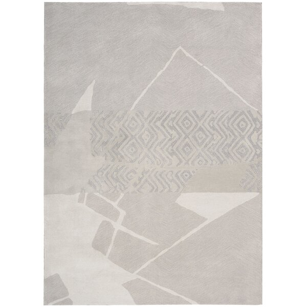 Reflective Hand Woven Wool Kyoto Pearl Area Rug by Calvin Klein