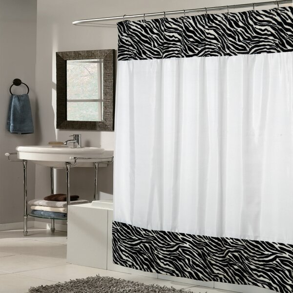 Zebra Fabric Shower Curtain by Sweet Home Collection