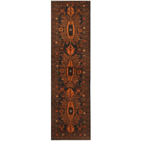 One-of-a-Kind Prentice Hand-Knotted Wool Navy/Gold Area Rug by Isabelline