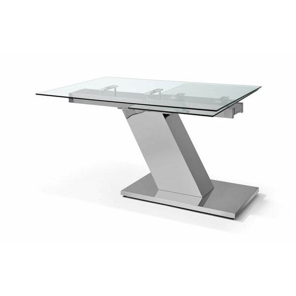 Sleek Extendable Dining Table by Whiteline Imports Whiteline Imports