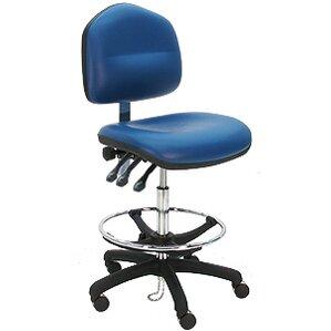 Ergonomic Cleanroom Lab Drafting Chair With Cushion