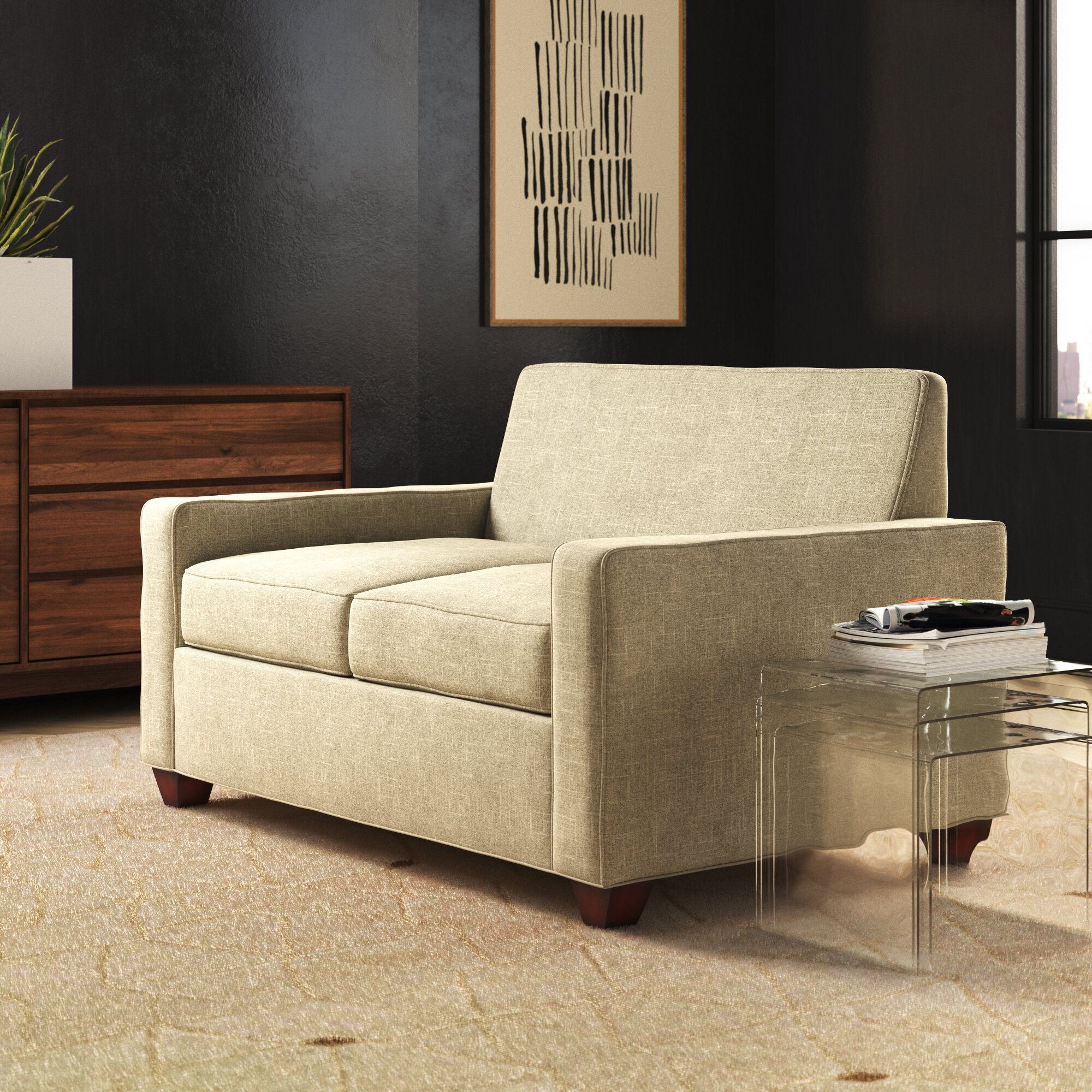 - EdgecombeFurniture Avery Loveseat Sleeper Sofa Wayfair