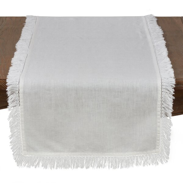 Plains Refined Fringed Table Runner by Bungalow Rose