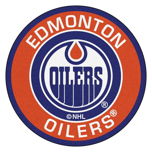 NHL Edmonton Oilers Roundel Mat by FANMATS