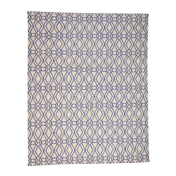 One-of-a-Kind Sherwick Flat Weave Kilim Reversible Hand-Knotted Ivory Area Rug by Breakwater Bay