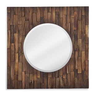 Loon Peak Square Fancy Polished Beveled Wall Mirror