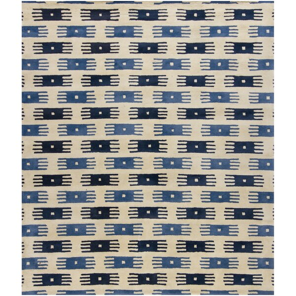 Herald Blue/White Area Rug by Loon Peak