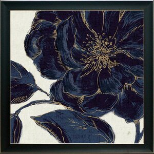 'Indigo Garden Bloom II' Framed Graphic Art Print by Ivy Bronx