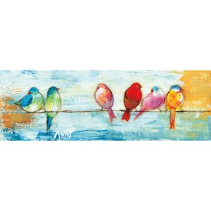 'Song Birds I' by Three Bamboo Studio Painting Print on Wrapped Canvas by Portfolio Canvas Decor
