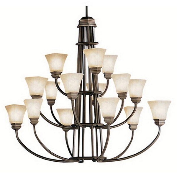 Barboza 15-Light Shaded Tiered Chandelier by Canora Grey Canora Grey