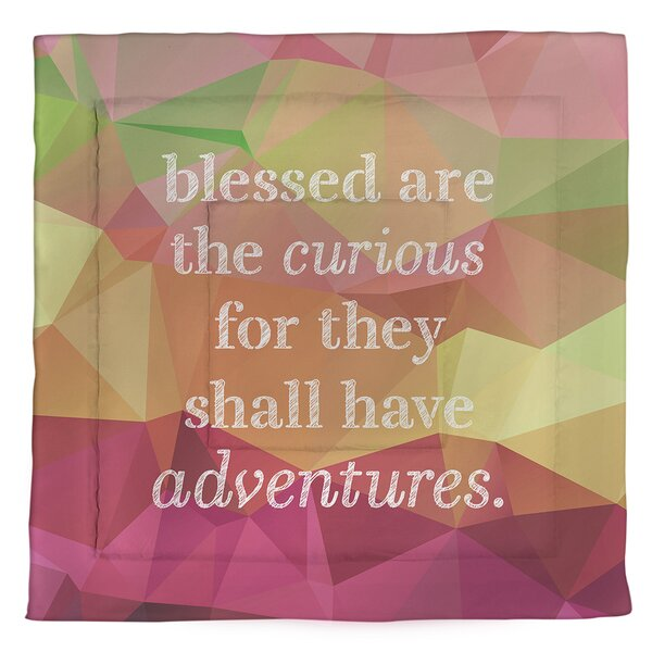Curiosity Inspirational Quote Single Reversible Comforter