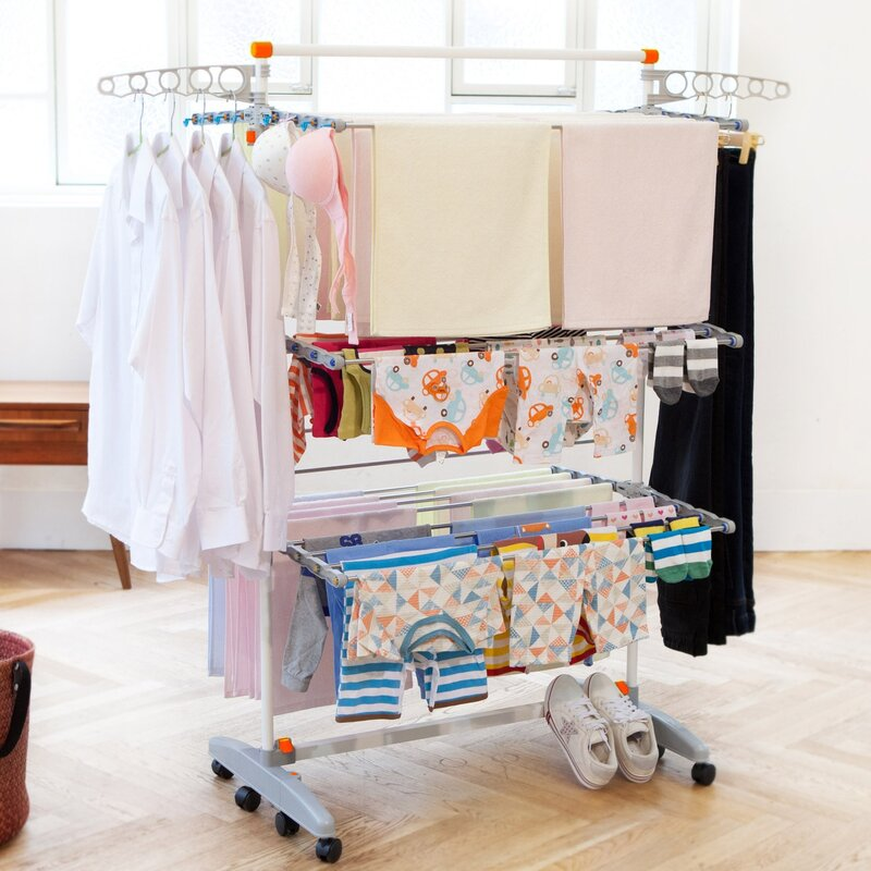 for indoor effective green dry energy hanging ideas efficient living to clothes drying tips rack inside