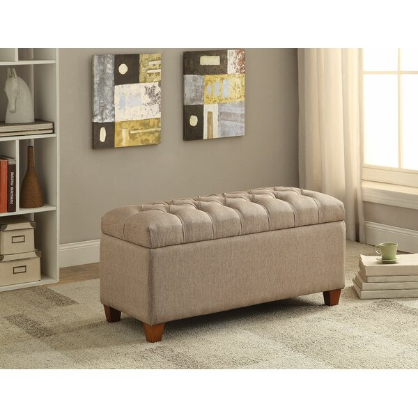 Loya Accent Upholstered Storage Bench by Charlton Home