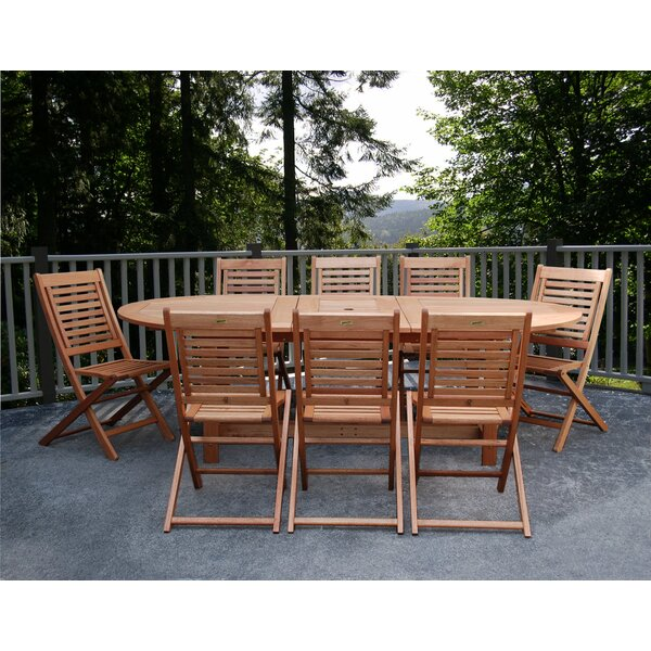 Mcquillen International Home Outdoor 9 Piece Dining Set by Highland Dunes