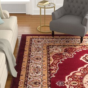 Affordable Price Lara Red Area Rug By Astoria Grand