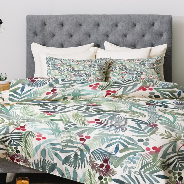 Dash and Ash Ferns and Holly Comforter Set