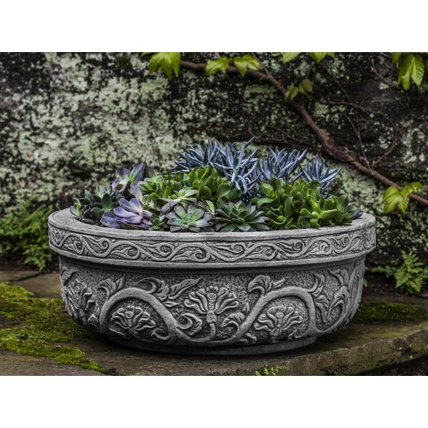 Kaven Cast Stone Pot Planter by Astoria Grand