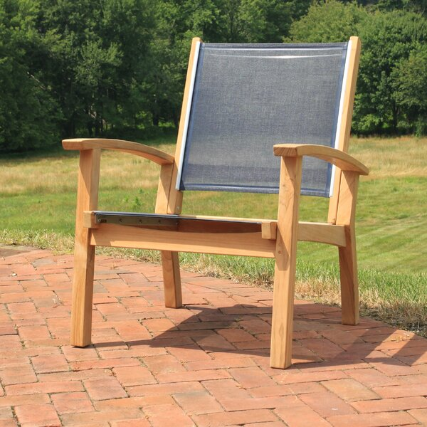 Gajcak Teak Patio Chair by Highland Dunes