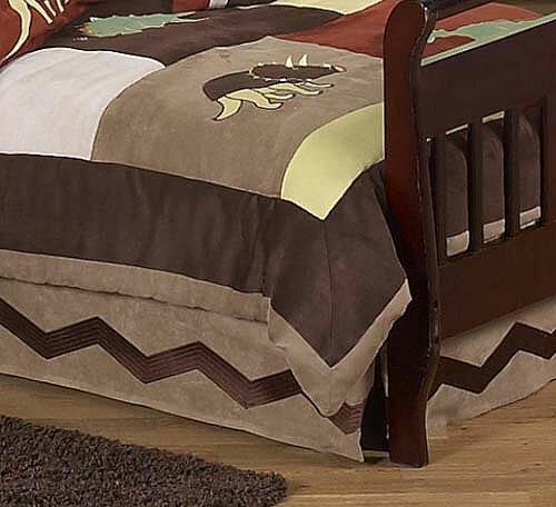 Dinosaur Land Toddler Bed Skirt by Sweet Jojo Designs