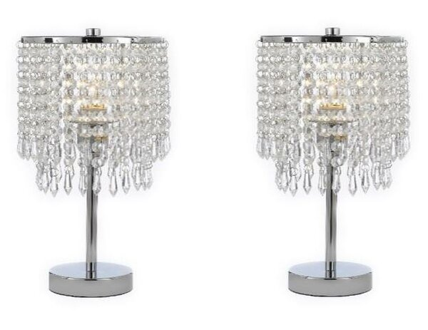 Aaru Round Crystal 14 Table Lamp (Set of 2) by House of Hampton