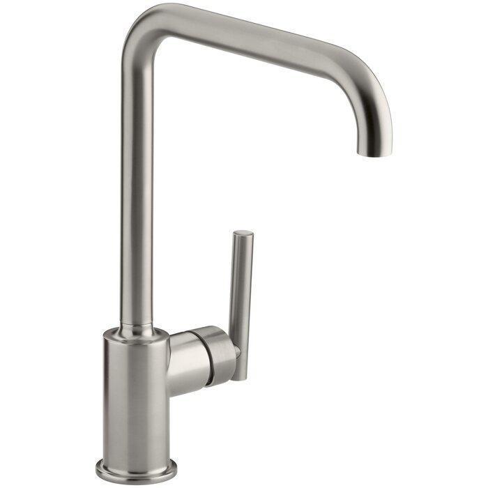 Purist Single Hole Kitchen Sink Faucet With 8 Spout