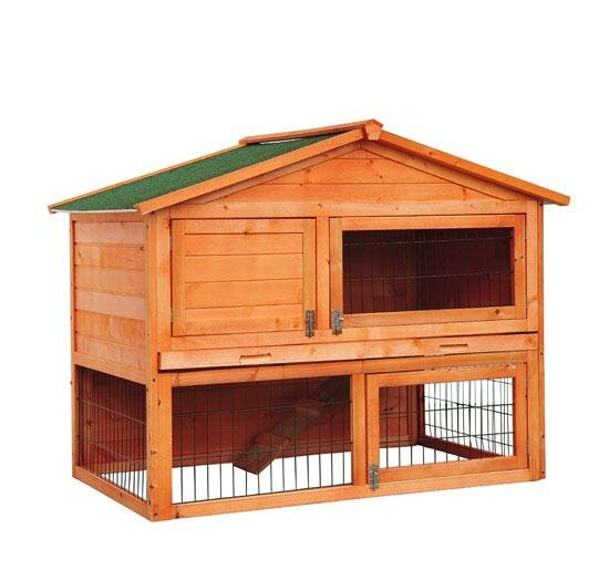 Hardy 48 Deluxe 2-level Backyard Bunny Rabbit Hutch by Tucker Murphy Pet