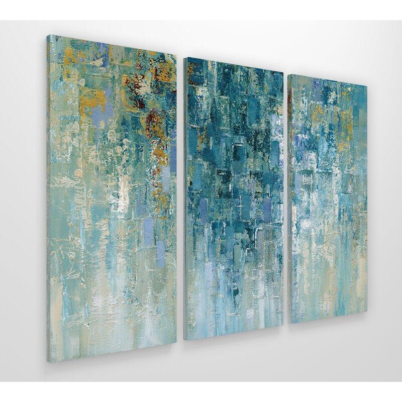george oliver i love the rain acrylic painting print multi piece