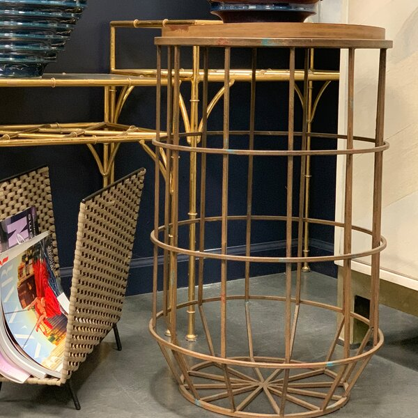 Koji Metal End Table by Sagebrook Home
