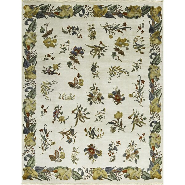 One-of-a-Kind Hand-Knotted Ivory Indoor Area Rug by Bokara Rug Co., Inc.