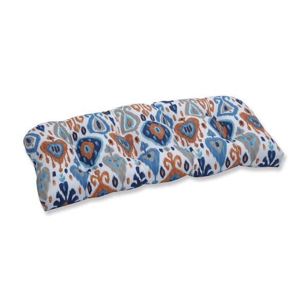 Azure Outdoor Loveseat Cushion by Bloomsbury Market Bloomsbury Market