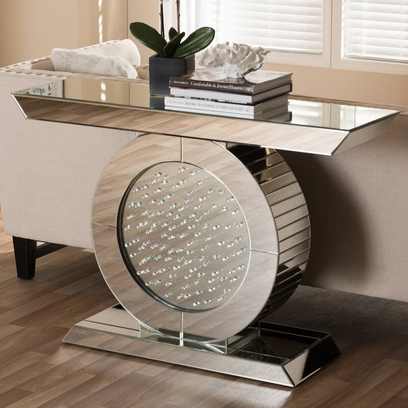 mirror console table. Baxton Studio Philippa Hollywood Regency Glamour Style Mirrored Console Table Mirror