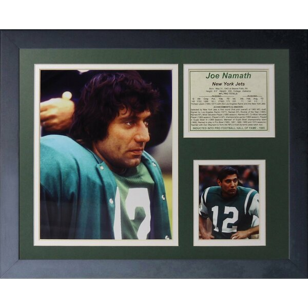 Joe Namath - Away Framed Memorabilia by Legends Never Die