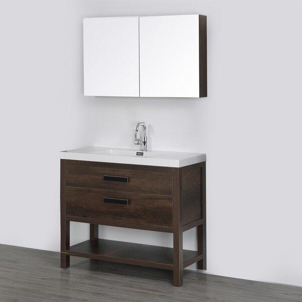 39 Single Bathroom Vanity Set with Mirror with Mirror by Streamline Bath
