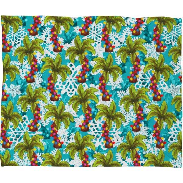 Aimee St Hill Tropical Christmas Plush Fleece Throw Blanket by Deny Designs