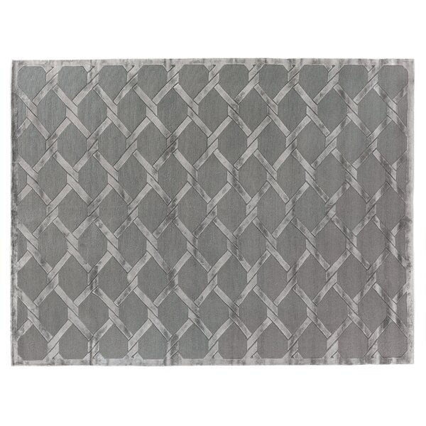 Hand-Knotted Wool Gray Area Rug by Exquisite Rugs