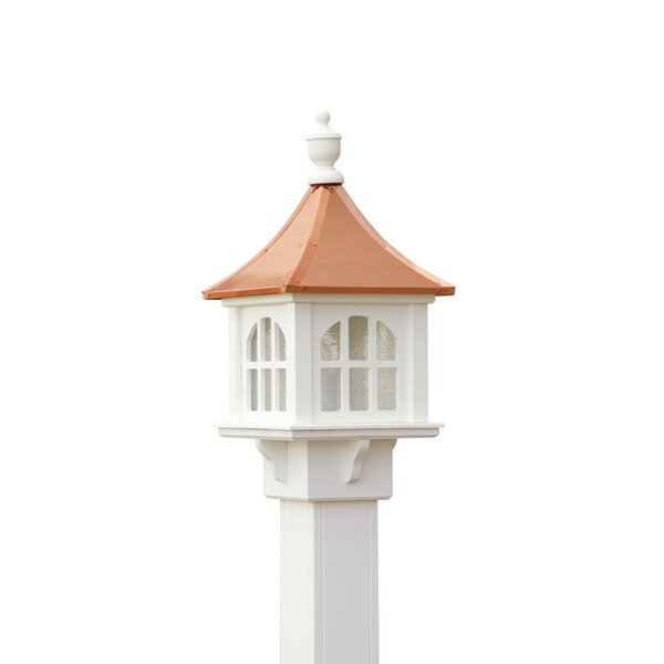 Schaffer Copper Cupola 1-Light Lantern Head by Longshore Tides