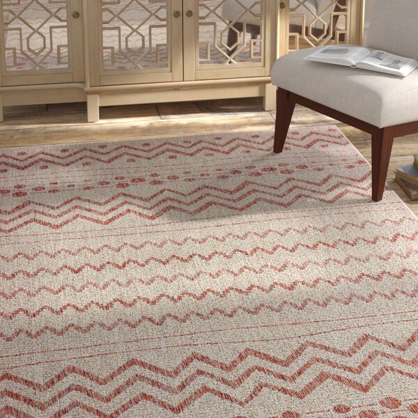 Shep Reversible Beige/Red Indoor/Outdoor Area Rug by Bloomsbury Market