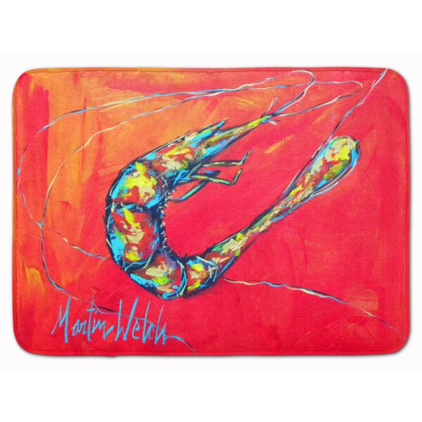 Odin Shrimp Seafood 3 Memory Foam Bath Rug by Longshore Tides