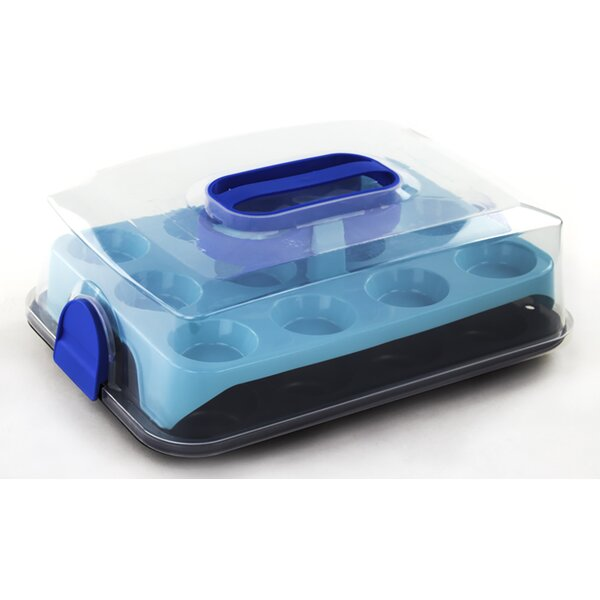 Non-Stick Cupcake Carrier Caddy by Imperial Home